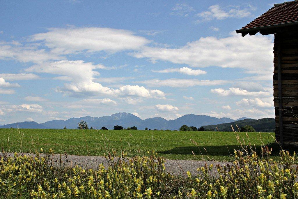 Alpenpanorame bei Habach (Gemeinde Habach)