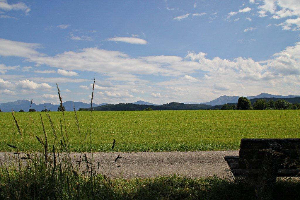 Rast mit Alpenpanorama auf der Gagast-Runde in Habach (Gemeinde Habach)