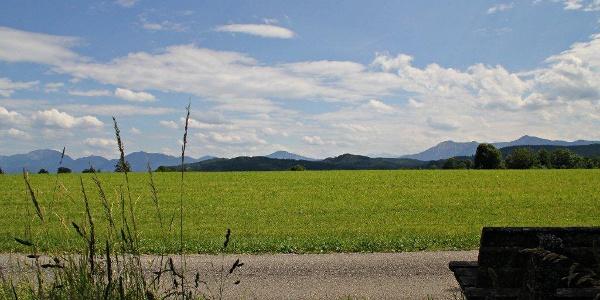 Rast mit Alpenpanorama auf der Gagast-Runde in Habach
