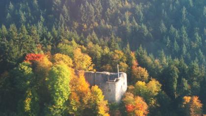 Ein herrlicher Ausblick bietet sich von der Ruine Neuenfels.