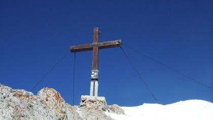 Gipfelkreuz der Rofanspitze.