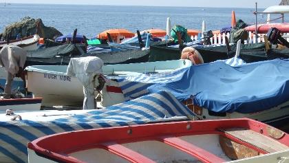 Am Hafen von Monterosso.