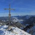 Gipfelkreuz der Haaralmschneid, Blick Richtuntg Osten / Ruhpolding
