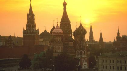 Moskau - Roter Platz, hier beginnt's.