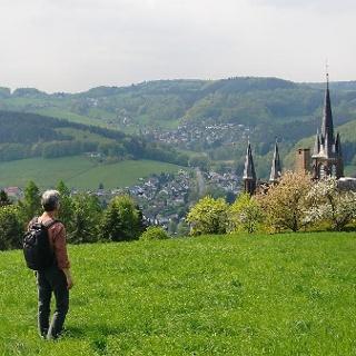 Blick auf das Kloster St. Marienhaus