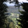 Der Blick von der Talstation des Silberbergs.