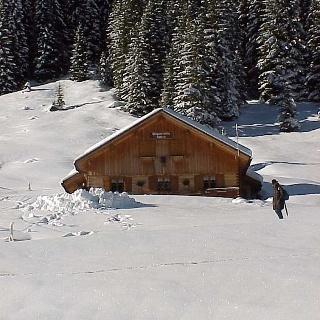 Winter an der Bärgunt-Hütte