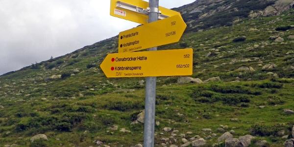 Der Weg 552 zum Großelendkees ist nicht zu verfehlen.