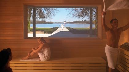 Sauna mit Blick auf den Maschsee
