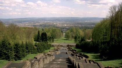 Wasserspiele am Herkules nahe Kassel, dem Ausgangspunkt unserer Wanderung.