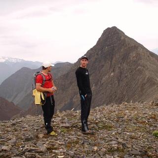 Deda Ena NW 3285m, Blick zum Kaukasus Hauptkamm (Norden)