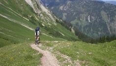 Trialabfahrt Gappenfeldalpe