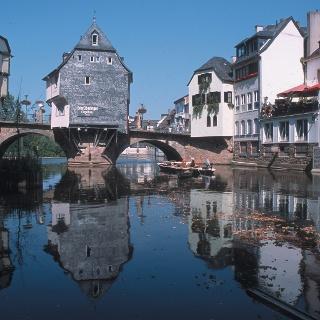 Bad Kreuznach mit seinen beeindruckenden Brückenhäusern.