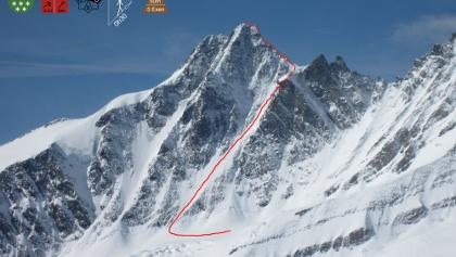 Großglockner Nordwand - Route Berglerrinne