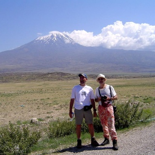 Erster Blick zum Ararat, da soll's rauf gehen.