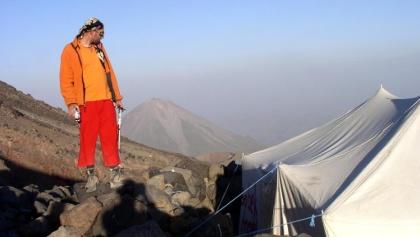 Askeri Camp 4130m am Abend, mit Kleinem Ararat.