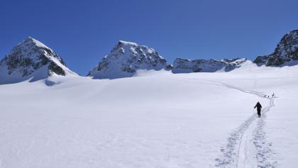 Piz Buin, Anstieg am Ochsentaler Gletscher