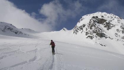 links hinten der Gipfel, Bachfallenkopf rechts
