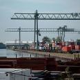 Der Container-Hafen in Dortmund.