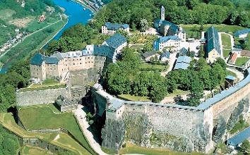 Foto Kultur auf dem Weg: die mächtige Festung Königstein.