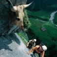 Im Fürenwand-Klettersteig.