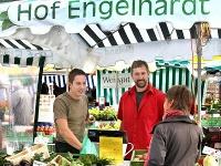 Hof Engelhardt auf dem Wochenmarkt in Schwäbisch Hall.
