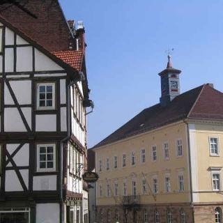 Ein Blick auf die Fachwerkhäuser Eschweges.