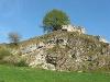 Blick auf den Burgstall bei Sontheim i. St.