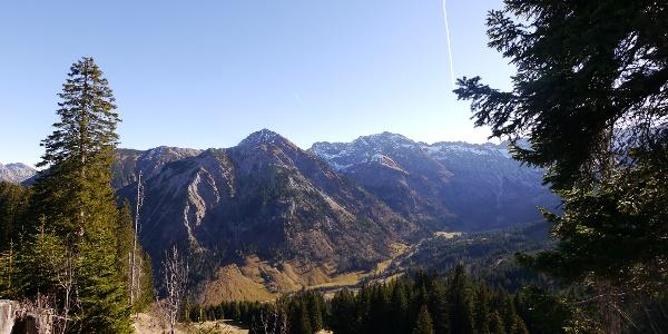 Path amidst a stunning alpine world