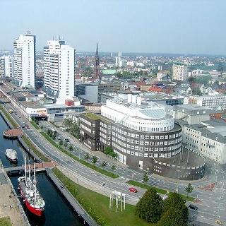 Blick vom Rundfunkturm Bremerhaven