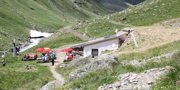 Clarahütte mit Terasse