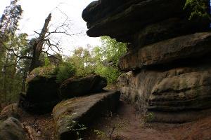 Foto Beim Zustieg zum Labyrinth