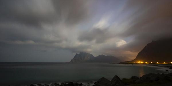 Sturm in den Lofoten