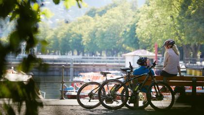 Bregenz Seeanlagen. Bregenz ist ein schöner Ausgangs- oder Endpunkt für Touren