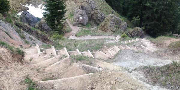 Treppe am Stuiben