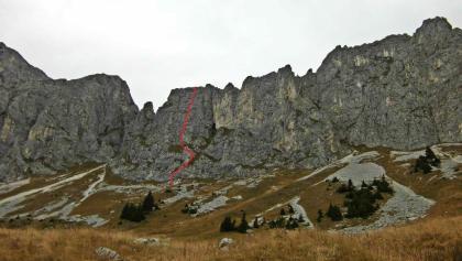 Routenverlauf durch die westliche Zwerchwand