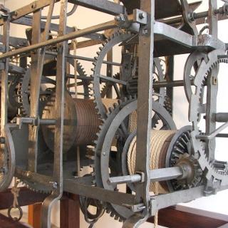 Handgeschmiedete Turmuhr aus dem Jahre 1709