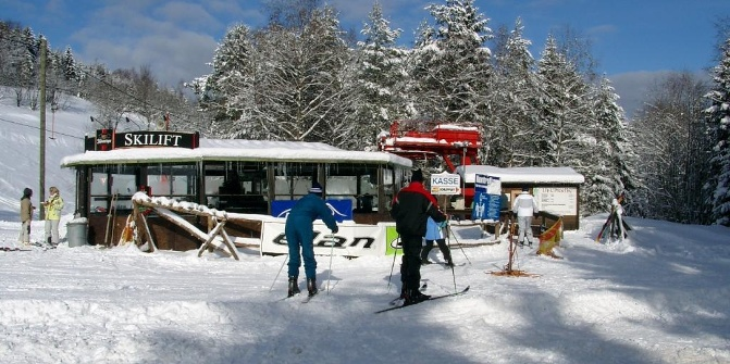 Skilift am Külliggut, Johanngeorgenstadt, Erzgebirge