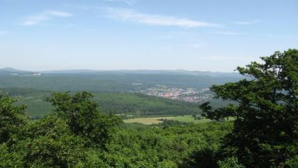 Blick auf Bad Brückenau und Volkersberg
