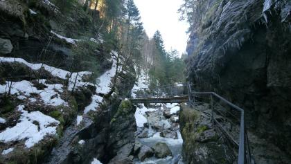 Starzlachklamm during winter