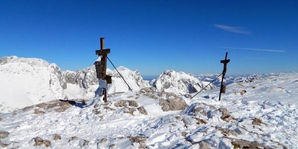 Gipfelkreuze am Schneibstein