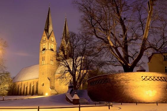 Klosterkirche St. Trinitatis im Winter Neuruppin