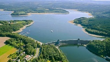 Möhnesee Sperrmauer -  Möhne Lake, Dam -  Nature Experience Trail at the western part of Lake Möhne