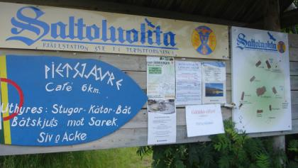 Starting point of the tour in Saltoluokta