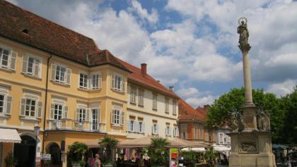 Bad Radkersburg, Hauptplatz, ein schöner Ort um eine Weitwanderung zu beginnen.
