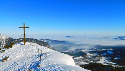Das Gipfelkreuz am Hochschlegel