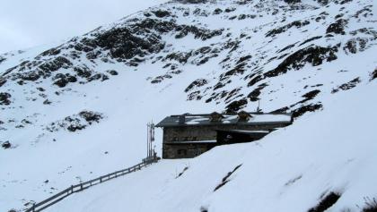 Ankunft auf der Amberger Hütte.