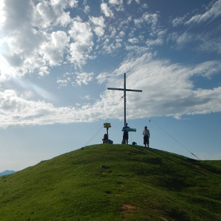 Am Gipfel des Gumpeneckes