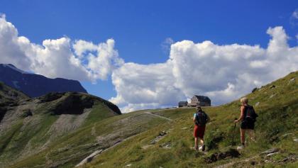 Blick zurück zur Hagener Hütte