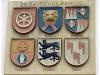 Ganerbenwappen der Familie von Stein am Alten Rathaus in Künzelsau. Eine der letzten Familienangehörige, Mechthild von Stein, schenkte einen Großteil ihrer Besitzungen am Ende des 11. Jhdt. dem Kloster Comburg.   - © Quelle: Wikipedia